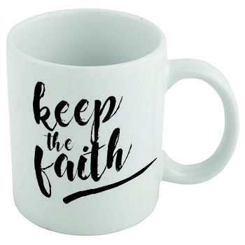 Coffee mug - Keep the faith by Raising Arrows