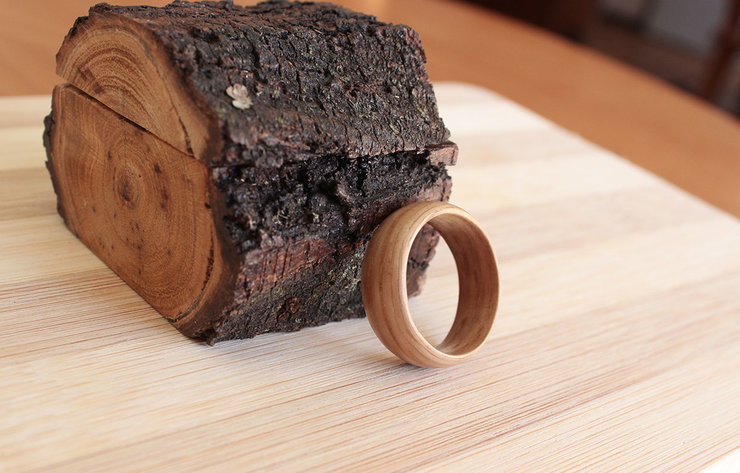 Natural White Oak - Wooden ring by Oh my woodness