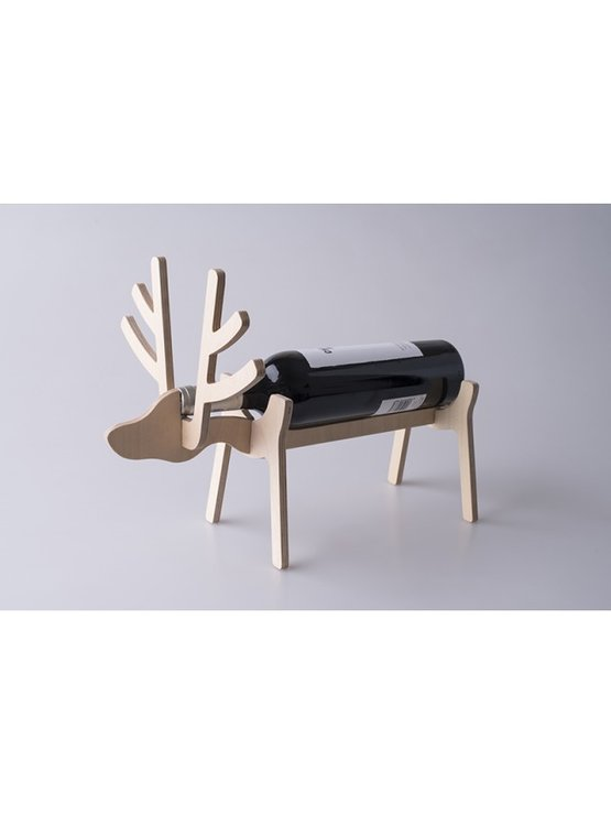 Reindeer Wine Holder by Native Decor