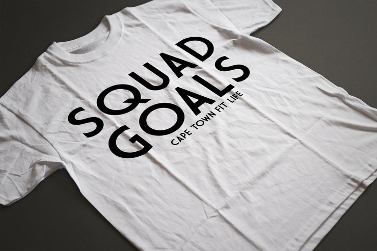 Squad Goals Fitted Tee by Cape Town Fit Life
