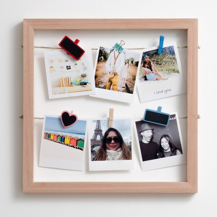 Square Floating Frame in Meranti by Timeframes Printing