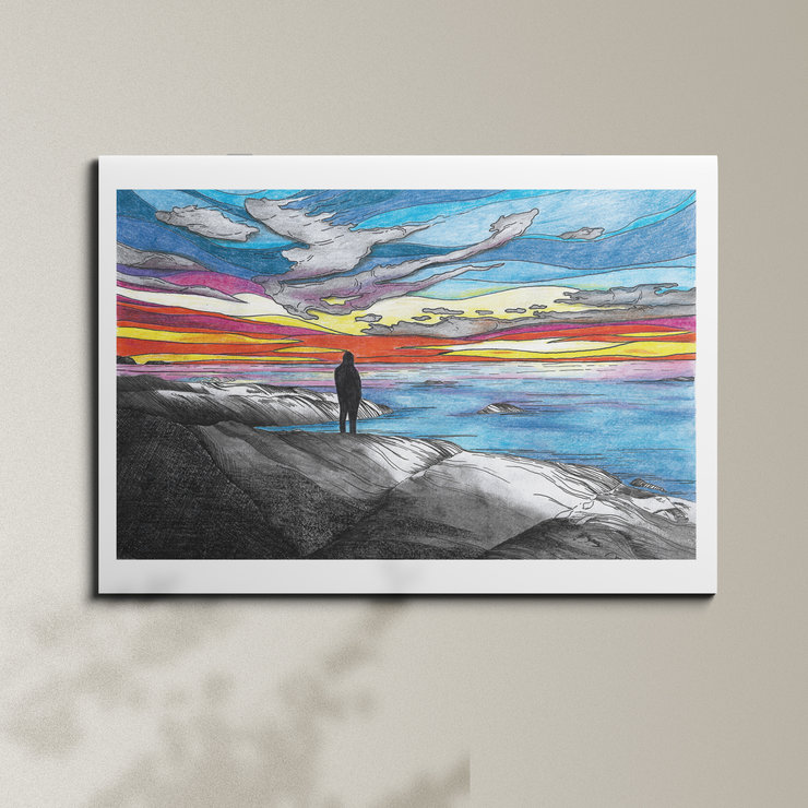 Cape Town Sunset - A3 by Art From Adventures