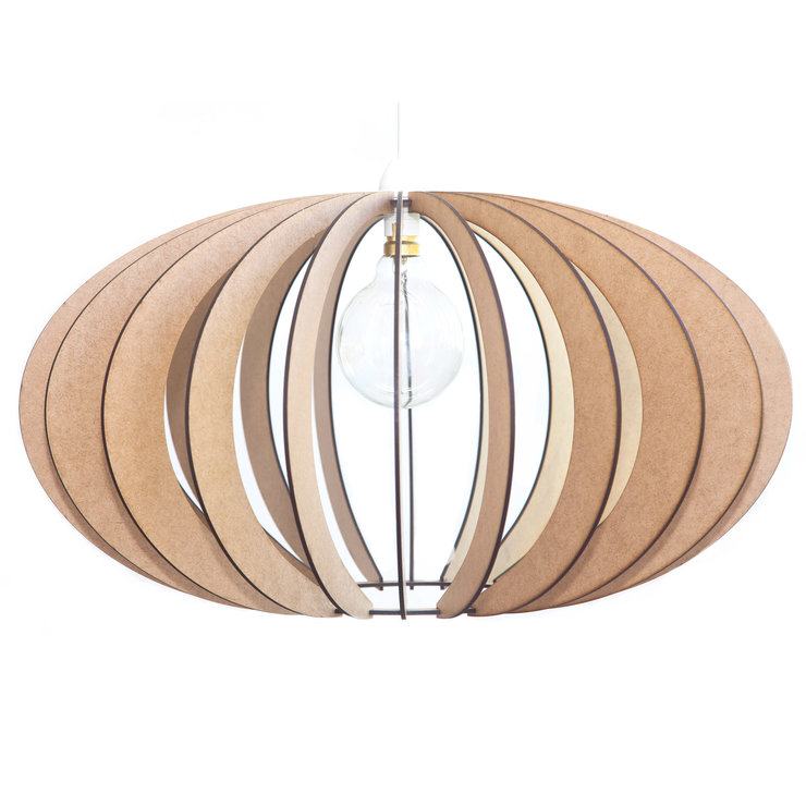 Wooden Pendant Ceiling Light / Lampshade - 'The Constantia' by AssembLIT