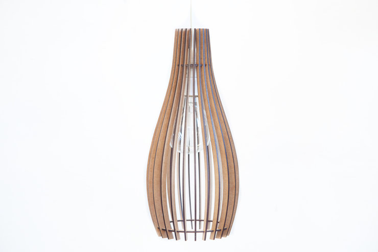 Wooden Pendant Ceiling Light / Lampshade - 'The Simonstown' by AssembLIT