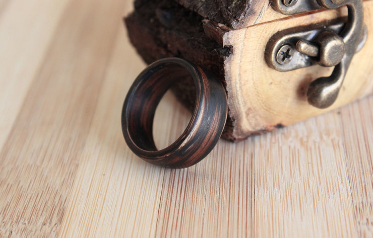 Tiger Oak Matte - Solid wooden ring by Oh my woodness