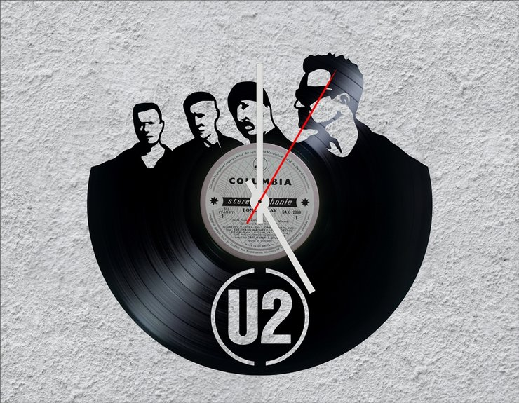 U2 LP Vinyl Clock by Uber Cool Design