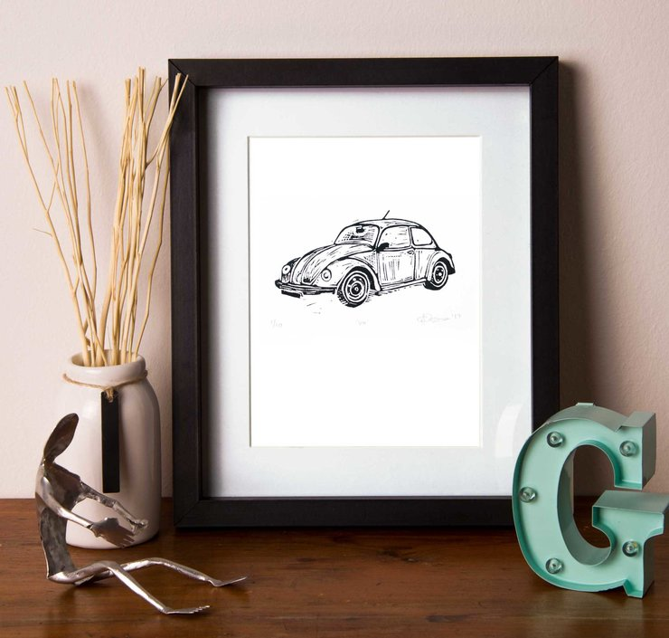 VW Beetle Print by Show Up