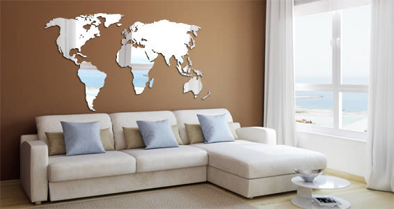 Perspex® Acrylic World Wall Map (small) by Grapeskin