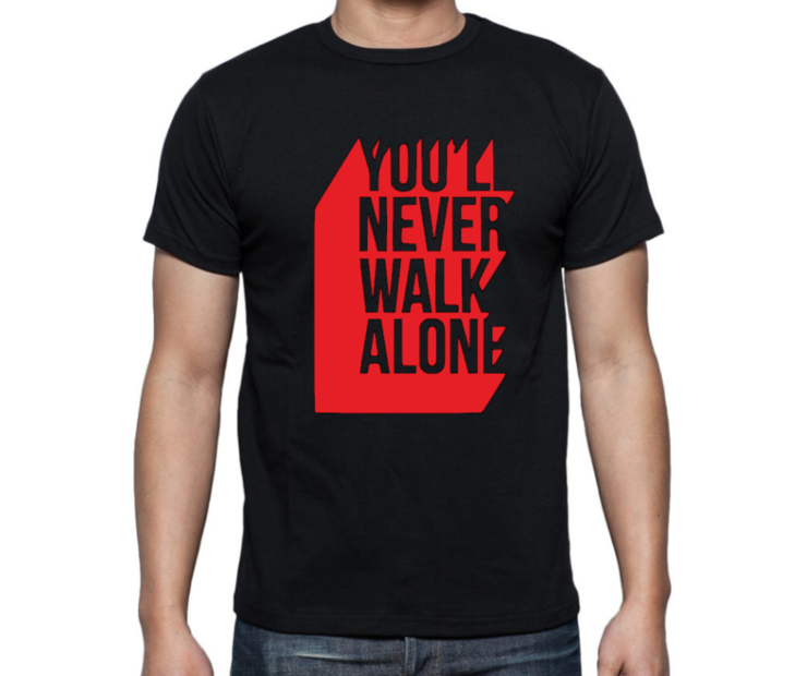 LIVERPOOL You'll Never Walk Alone Adult T-shirt / YNWA / Liverpool Novelty T-Shirt/ Gift / Black by Little Lion Cub Boutique