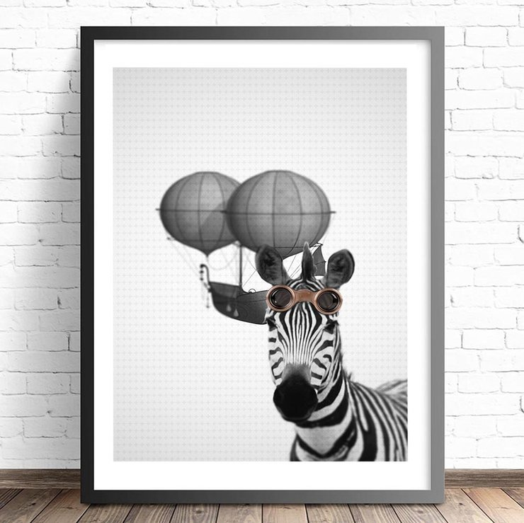 Zebra Wall Decor Print/Instant Download By PennyWinkle