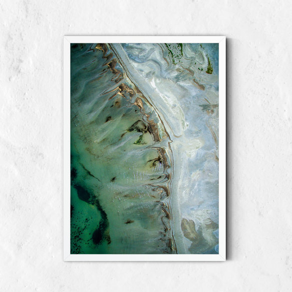 Abstract Printable Art, Landscape Coast, Turquoise Green Gold, Printable Wall Art Abstract Painting, Fluid Poster, Abstract Decor Downloadable Art