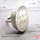 Personalised Statement Ring by Thula on Hello Pretty